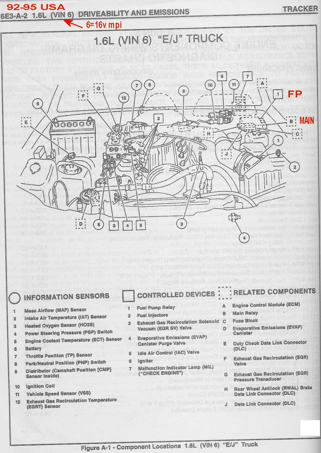 Schematics To Run Engine Electronic Ignition Wiring Diagram 95 Bay Component Locations Vin 6 Mpi Critical Motor Running