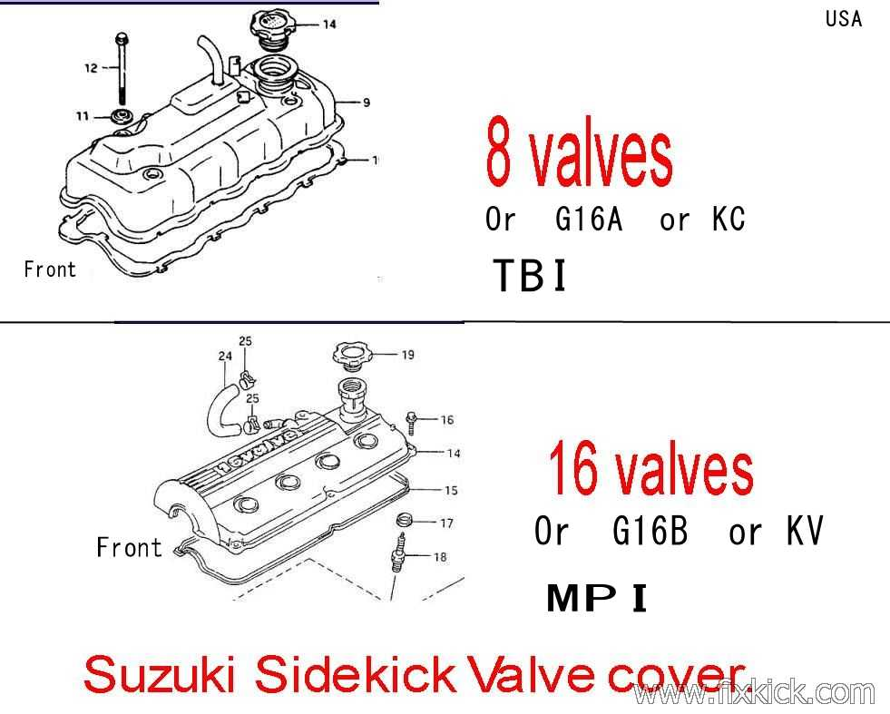 V V on Geo Tracker Valve Cover