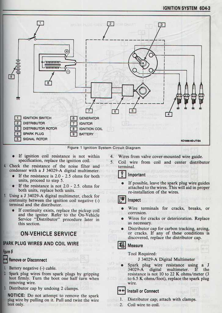 Ignition system circuit diagram